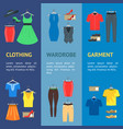 man and woman clothes banner vecrtical set vector image vector image