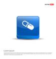medicine symbol icon - 3d blue button vector image