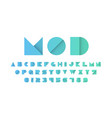 modern font in a paper style vector image vector image