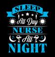 nurse typographic quotes vector image vector image
