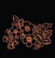 orange flower on a black background vector image vector image