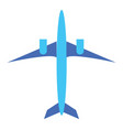 picture a blue aircraft with two engines ready vector image