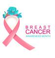 pink ribbon symbol national breast cancer vector image vector image