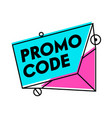 promo code advertising special offer e-commerce vector image vector image