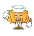 sailor table cloth character cartoon vector image