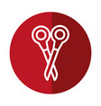 scissor tool icon vector image vector image