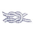 Sea Knot Rope Hand Draw Sketch vector image vector image
