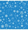 Seamless pattern from christmas symbols vector image vector image