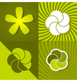Set a green spring backgrounds with flowers vector image vector image