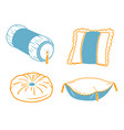 set icons cushion vector image vector image