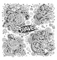 set of travel planning objects and symbols vector image vector image