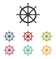 Ship wheel icons set vector image vector image