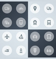 shipment icons line style set with stoplight vector image vector image