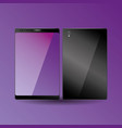 smartphone device digital display purple front and vector image