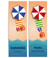 summer travel banners set with sea or ocean vector image