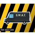 Swat police bus vector image