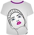 T Shirt Template- Glamor model vector image