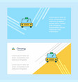 taxi abstract corporate business banner template vector image