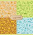 tea seamless pattern cartoon vector image vector image