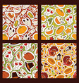 thanksgiving food seamless pattern vector image