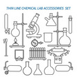 thin line chemical lab equipment vector image vector image