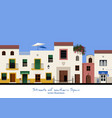 typical street in southern spain fruit and vector image vector image