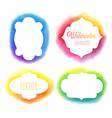 watercolor frames vector image vector image