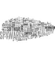 what s the snag behind the spyware text word vector image vector image