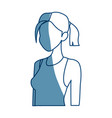 young woman portrait casual style vector image