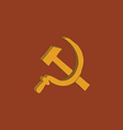 Hammer and sickle icon vector image
