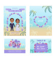 summer wedding invitation cars vector image