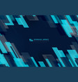 abstract blue square overlap design geometric vector image vector image