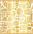 abstract gold foil mosaic shapes on white seamless vector image vector image