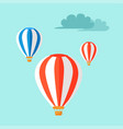airballoons flying in blue sky vector image