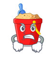 angry picture beach bucket on shovel cartoon