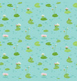 beautiful seamless pattern with water lilies vector image vector image