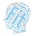 Become Healthier Become Fitter text background vector image vector image