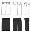 Blank mens shorts vector image vector image