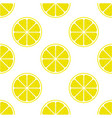 bright lemon slice background vector image vector image