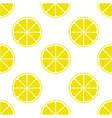bright lemon slice background vector image