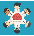 Businessman brainstorm eps10 format vector image