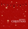 christmas background light buble on christmas vector image