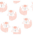 cute little fox seamless pattern vector image