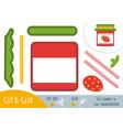 Education paper game for children jam-jar