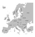 Europe map with names of sovereign countries vector image vector image
