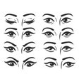 female eyes expressions set vector image vector image
