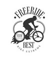 freeride best bike extreme vintage label black vector image vector image