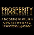golden english alphabet on a black background vector image