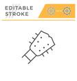 guitar editable stroke line icon vector image vector image