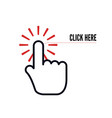 hand cursor with animation action and text vector image